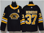 Boston Bruins #37 Patrice Bergeron Alternate Black Jersey