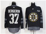Boston Bruins #37 Patrice Bergeron Black 100th Anniversary Jersey