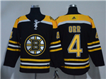 Boston Bruins #4 Bobby Orr Black Jersey