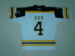 Boston Bruins #4 Bobby Orr Youth White Jersey