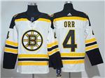 Boston Bruins #4 Bobby Orr White Jersey