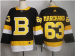 Boston Bruins #63 Brad Marchand 2019/20 Alternate Black Jersey