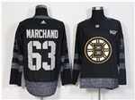 Boston Bruins #63 Brad Marchand Black 100th Anniversary Jersey