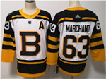 Boston Bruins #63 Brad Marchand White 2019 Winter Classic Jersey