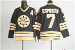 Boston Bruins #7 Phil Esposito Throwback Black Jersey