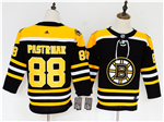 Boston Bruins #88 David Pastrnak Youth Black Jersey