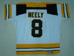 Boston Bruins #8 Cam Neely Throwback White Jersey