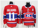 Montreal Canadiens #11 Brendan Gallagher 2017/18 Red Jersey