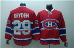 Montreal Canadiens #29 Ken Dryden Throwback Red Jersey