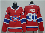 Montreal Canadiens #31 Carey Price Women's Red Jersey