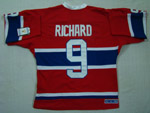 Montreal Canadiens #9 Maurice Richard Throwback Red Jersey