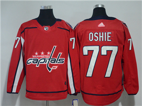 Washington Capitals #77 T.J. Oshie 2017/18 Red Jersey