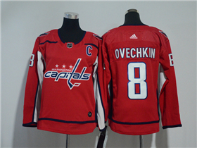 Washington Capitals #8 Alexander Ovechkin 2017/18 Youth Red Jersey