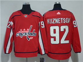 Washington Capitals #92 Evgeny Kuznetsov 2017/18 Red Jersey