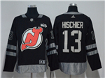 New Jersey Devils #13 Nico Hischier Black 100th Anniversary Jersey