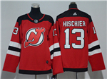 New Jersey Devils #13 Nico Hischier 2017/18 Youth Red Jersey