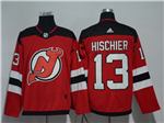 New Jersey Devils #13 Nico Hischier 2017/18 Red Jersey