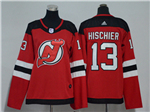 New Jersey Devils #13 Nico Hischier 2017/18 Women's Red Jersey
