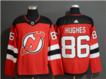 New Jersey Devils #86 Jack Hughes Red Jersey