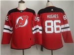 New Jersey Devils #86 Jack Hughes Women's Red Jersey