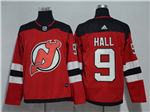 New Jersey Devils #9 Taylor Hall 2017/18 Red Jersey