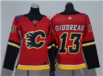 Calgary Flames #13 Johnny Gaudreau Women's Home Red Jersey