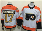 Philadelphia Flyers #17 Wayne Simmonds 3rd White Jersey w/50th Anniversary Patch