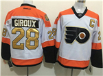 Philadelphia Flyers #28 Claude Giroux 3rd White Jersey w/50th Anniversary Patch