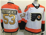 Philadelphia Flyers #53 Shayne Gostisbehere 3rd White Jersey w/50th Anniversary Patch