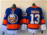 New York Islanders #13 Mathew Barzal Blue Jersey