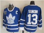 Toronto Maple Leafs #13 Mats Sundin 1991 CCM Vintage 75th Blue Jersey