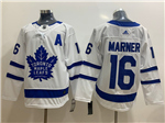 Toronto Maple Leafs #16 Mitchell Marner 2017/18 White Jersey