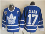 Toronto Maple Leafs #17 Wendel Clark 1991 CCM Vintage 75th Blue Jersey