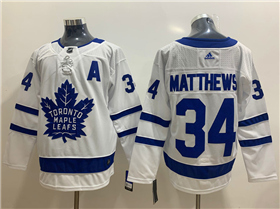 Toronto Maple Leafs #34 Auston Matthews 2017/18 White Jersey