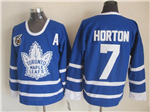 Toronto Maple Leafs #7 Tim Horton 1991 CCM Vintage 75th Blue Jersey