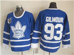 Toronto Maple Leafs #93 Doug Gilmour 1991 CCM Vintage 75th Blue Jersey