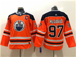 Edmonton Oilers #97 Connor McDavid 2017/18 Youth Orange Jersey