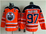 Edmonton Oilers #97 Connor McDavid 2017/18 Orange Jersey