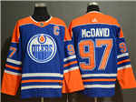 Edmonton Oilers #97 Connor McDavid Youth Royal Blue Jersey