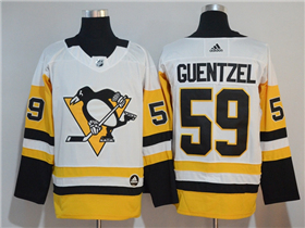 Pittsburgh Penguins #59 Jake Guentzel 2017/18 White Jersey