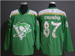 Pittsburgh Penguins #87 Sidney Crosby Green 2019 St.Patrick's Day Jersey