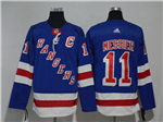 New York Rangers #11 Mark Messier Home Royal Blue Jersey