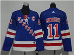 New York Rangers #11 Mark Messier Women's Home Royal Blue Jersey