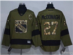 New York Rangers #27 Ryan McDonagh Green Salute To Service Jersey