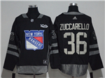 New York Rangers #36 Mats Zuccarello Black 100th Anniversary Jersey