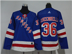New York Rangers #36 Mats Zuccarello Women's Home Royal Blue Jersey