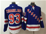 New York Rangers #93 Mika Zibanejad Home Royal Blue Jersey