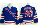 New York Rangers #99 Wayne Gretzky Youth CCM Vintage Royal Blue Jersey