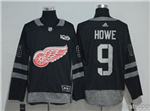 Detroit Red Wings #9 Gordie Howe Black 100th Anniversary Jersey