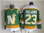 Minnesota North Stars #23 Brian Bellows 1980's CM Vintage Green Jersey